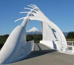 Te Rewa Rewa Bridge in New Plymouth, Nieuw-Zeeland