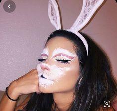 Bunny Halloween Makeup, Bunny Makeup, Pretty Halloween, Halloween Kostüm, Rabbit Halloween, Halloween Costumes, Good Hair, Beauty Makeup, Eye Makeup