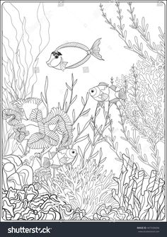 Coral Reef Coloring Page Luxury Coloring Pages Coral Reef Coloring Page Pages Free Simple Castle Coloring Page, Fish Coloring Page, Cars Coloring Pages, Adult Coloring Book Pages, Mandala Coloring Pages, Animal Coloring Pages, Coloring Pages To Print, Coloring Books, Coral Reef Color