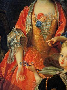 Nicolas de Largillière Paris, 1656 – Paris, 1746 Portrait de Madame Jassaud et ses deux enfants (détail de) Huile sur toile Don Lennel, 1922 Abbeville, musée Boucher-de-Perthes