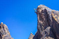Jenna finishing her lead climb strong