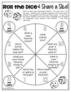 How To Produce Elementary School Much More Enjoyment This Teambuilding Activity From Dice Discussions Is Perfect For Back-To-School Or Any Time Of The Year When Building The Classroom Community Is Needed. Get To Know You Activities, First Day Of School Activities, Classroom Activities, Leadership Activities, Icebreaker Activities, Icebreakers For Kids, Team Bonding Activities, Senior Citizen Activities, Communication Activities