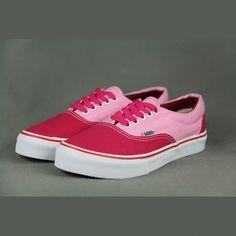 Vans Shoes Red Pink Two-Tone Era Shoes Unisex Classic Canvas 2f6b1e317