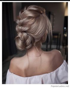Braid and bun for the bride