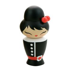 Coco Momiji are handpainted resin message dolls. Turn them upside down...inside every one there's a tiny folded card for your own secret message. Spread the love.All dolls�are approx 8cm (3in) tall.