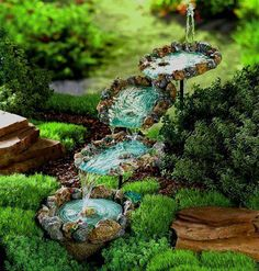 Water feature for fairy garden