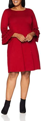 The perfect Gabby Skye Women's Plus Size 3/4 Tier Sleeve Round Neck Sweater A-line Dress plus size sweater dress. ($30.72) findtopgoods from top store Long Knit Cardigan, Drape Cardigan, Cardigan Sweaters For Women, Plus Size Sweater Dress, Hoodie Dress, Color Block Sweater, Long Hoodie, Dress Online, Short Sleeve Dresses