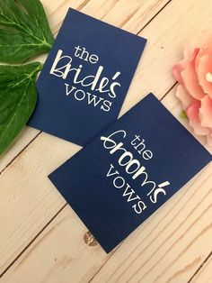 Keep your wedding vows as a memento and make them photo-worthy with these custom vow books! Available in Bride and Groom, multiple colors, with custom dates and quotes. Includes six blank pages for writing (12 total, front and back). Measures approximately 3 x 5 but can be resized if