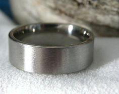 Titanium Ring Stone Finish Wedding Band AX16 by titaniumknights