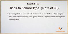 Back to school tips (tip 4)