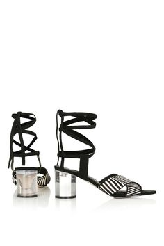 RAFFLE Clear Round Heeled Sandals - Topshop X Man Repeller - We Love - Topshop USA