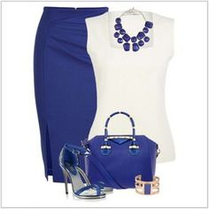 CHATA'S DAILY TIP:Sapphire blue; cool and always elegant – we adore this beautiful shade, perfect for all skin tones, from Soft to Rich. Simply swop your basic black pencil skirt for an on-trend sapphire blue skirt then pair with a cool white blouse and accessorise with gorgeous matching accents. Guaranteed to make you stand out from the crowd at the office! COPY CREDIT: Chata Romano Image Consultant, Marlise du Plessis http://chataromano.com/consultant/marlise-duplessis/ IMAGE CREDIT…