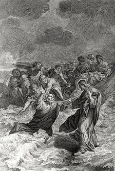 Phillip Medhurst presents Bowyer Bible print 3715 Jesus walks on the sea Matthew 14:30-31 Lanfranc on Flickr. A print from the Bowyer Bible, a grangerised copy of Macklin's Bible in Bolton Museum and...