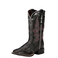 Ariat Womens Sidekick Performance B Black Deertan. Pull On. Western Wear, Western Boots, Cowboy Boots, Work Fashion, Fashion Shoes, Square Toe Boots, Cool Things To Buy, Athletic Shoes, Footwear