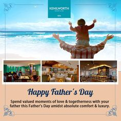Luxury is gifted to every child throughout their journey by their father. Make this Father's day special by gifting him the luxury he deserves with a prized stay at Kenilworth in the enclaves of Goan goodness.  #HappyFathersDay #FathersDay #Wishes #KenilworthHotel #Goa
