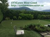 North Vancouver backyard #puttinggreen installed 2009 by SYNLawn® Vancouver. Get your free estimate 778-999-6492