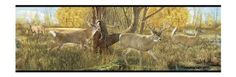 York Wallcoverings Lake Forest Lodge LM7903B Deer Border, Multi/Black Band - Amazon.com