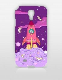 [SINGAPORE ARTIST]  Rocket Cat by ANNGEE. Rocketing into the Galaxy with a space travel theme, Anngee's cover designs depict a quirky, rainbowlicious world where creatures on other planets are free to do their own thing.