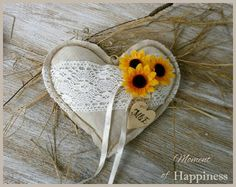 Wedding Ring Pillow Ring Bearer Rustic Ring by MomentOfHappiness
