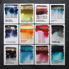 Top 12 fountain pen inks of 2015 by Nick Stewart