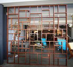 Custom Midcentury Geometric Room Divider For Sale at 1stdibs
