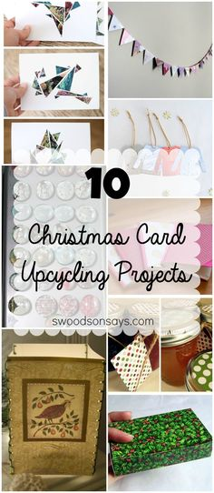 10 Christmas Card Upcycling Projects - don't just recycle, upcycle! Make something useful and beautiful with this year's old Christmas Cards. Swoodsonsays.com