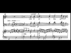 For the beauty of the earth (J. Rutter) Score Animation - YouTube