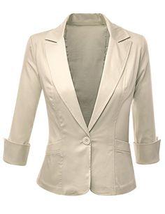 Doublju Women 3/4 Sleeve Cotton Satin Span Fabric Peaked Collar Blazer Khaki Doublju http://www.amazon.com/dp/B00LZOP7EO/ref=cm_sw_r_pi_dp_ulH6ub06PX3PW