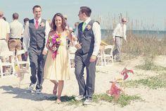 pinwheel beach wedding  pinwheel summer wedding  available at pinwhirls.com
