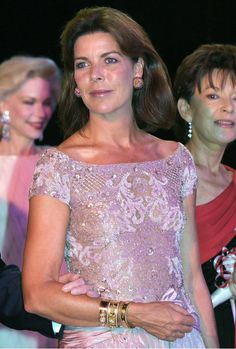 Princess Caroline - Celebrity arrivals at the Red Cross Ball in Monaco