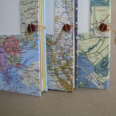 Versatile Travel Journal with Map Handmade for by UsefulBooks, $29.00    I think i want one of these for my next great adventure