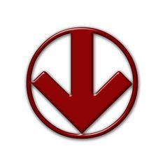 Circled Down Arrow Icon #009623 » Icons Etc