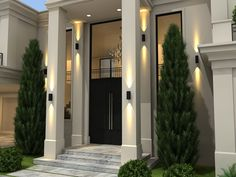 Modern home design Classic House Exterior, Classic House Design, Dream House Exterior, Dream Home Design, Home Design Plans, Modern House Design, Luxury Homes Dream Houses, Villa Design, House Entrance