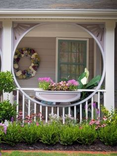 love the wreath...door and window trim color also. by denise.su