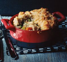 Turkey Potpie with Cheddar Biscuit Crust Recipe  | Epicurious.com