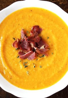 This Apple and Butternut Squash Soup is acreamy and sweet butternut squash soup that's topped with crispy bacon. Let's talk about life. I'm not quite ready to turn my blog into a tell-all diary, but let's just say a few huge changes have happened in the course of the last few weeks that have made...