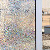 Home Decor Expressive Funlife 3d Window Film Vinyl Glass Window Sticker Privacy Static Decorative Glass Film Non-adhesive Heat Control Anti Uv Bright In Colour Decorative Films