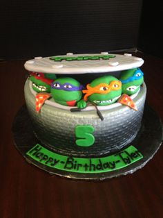 ninja turtle cake - Google Search                                                                                                                                                                                 More