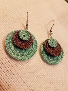 Jewellery For Lady - Crochet Jewelry Patterns, Crochet Earrings Pattern, Crochet Accessories, Crochet Designs, Crochet Necklace, Crochet Jewellery, Thread Crochet, Diy Crochet, Crochet Crafts