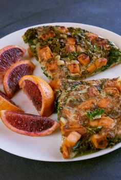 Serve half the frittata with half a blood orange. | Day 1 Of BuzzFeed's 7-Day Clean Eating Challenge