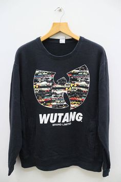 WUTANG Brand Limited Big Logo Black Vintage Pullover Wutang 1d357c15690