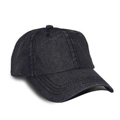 New Fashion Style Black Denim Adjustable Baseball Dad Cap with Pre-Curved  Bill - Men and Women High End Fashion Hat - One Size 2dd758105069