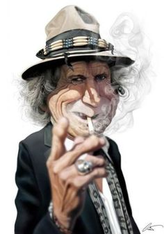 Funny Celeb Caricatures by Marco  @ Calcinaro   Just Imagine - Daily Dose of Creativity . this is Keith Richards of course <3 and is  picture 8 of 25