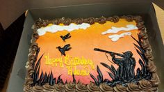Duck hunt cake. Hunting cake