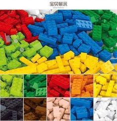 Blocos de montar lote de 415 peças mixadas , compatíveis com Lego