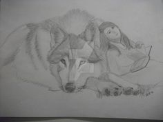 Wolf and Rider take a break by JoManyNames