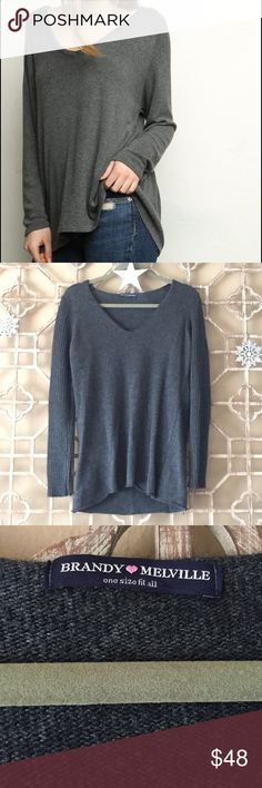 NWOT Brandy Melville Sweater! Perfect for winter! Super cute and flattering!(1st pic for example) Brandy Melville Sweaters V-Necks