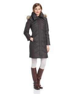 Marc New York by Andrew Marc Women`s Mercer Mid Length Down Coat with Fur Hood for only $249.90 You save: $65.10 (21%)