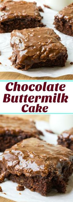 Buttermilk Cake with Frosting Chocolate Buttermilk Cake with chocolate buttermilk icing.Chocolate Buttermilk Cake with chocolate buttermilk icing. Bon Dessert, Low Carb Dessert, Oreo Dessert, 13 Desserts, Delicious Desserts, Healthy Desserts, Healthy Foods, Food Cakes, Cupcake Cakes