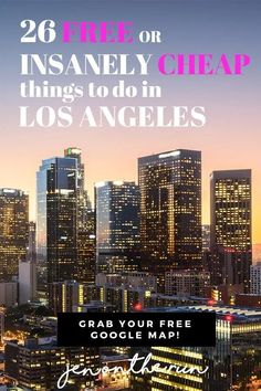 Visiting Los Angeles California soon on a trip? Here are 26 free or insanely cheap things to do in Los Angeles. See everything from the Santa Monica Pier the Getty Museum downtown LA and more. Snag your free map in this travel guide too! Save money a Cheap Things To Do, Free Things, Stuff To Do, Visit Los Angeles, Los Angeles Travel, Budget Travel, Travel Guide, Travel Advice, Travel Ideas